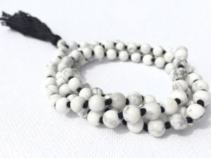 white howlite mala beads