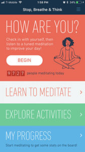 Stop, Breathe & Think Relaxation App