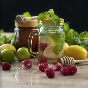 Raspberry Lemon Mint Infused Water