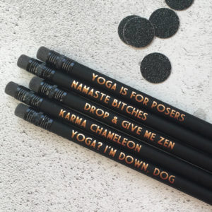 Funny Yoga Pencils Gifts