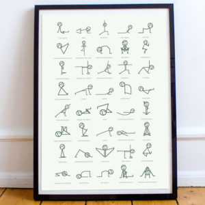 Stick Figure Yoga Pose Poster