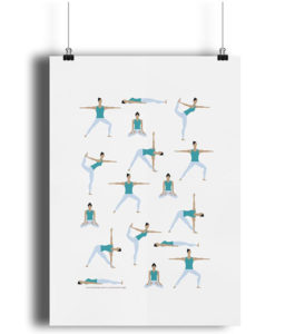 Yoga Poses Poster Gift Ideas for Yogis