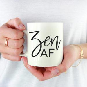 Zen AF Mug Meditation Gift