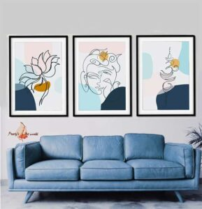 Meditation Art Triptych Mother's Day Gift