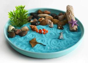 Ocean Sand Desktop Zen Garden