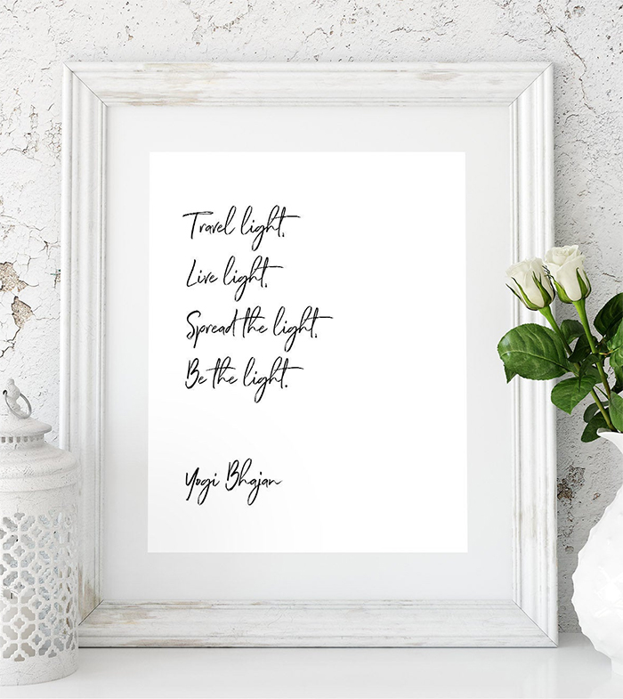 Be the Light Yogi Bhajan Meditation Quote