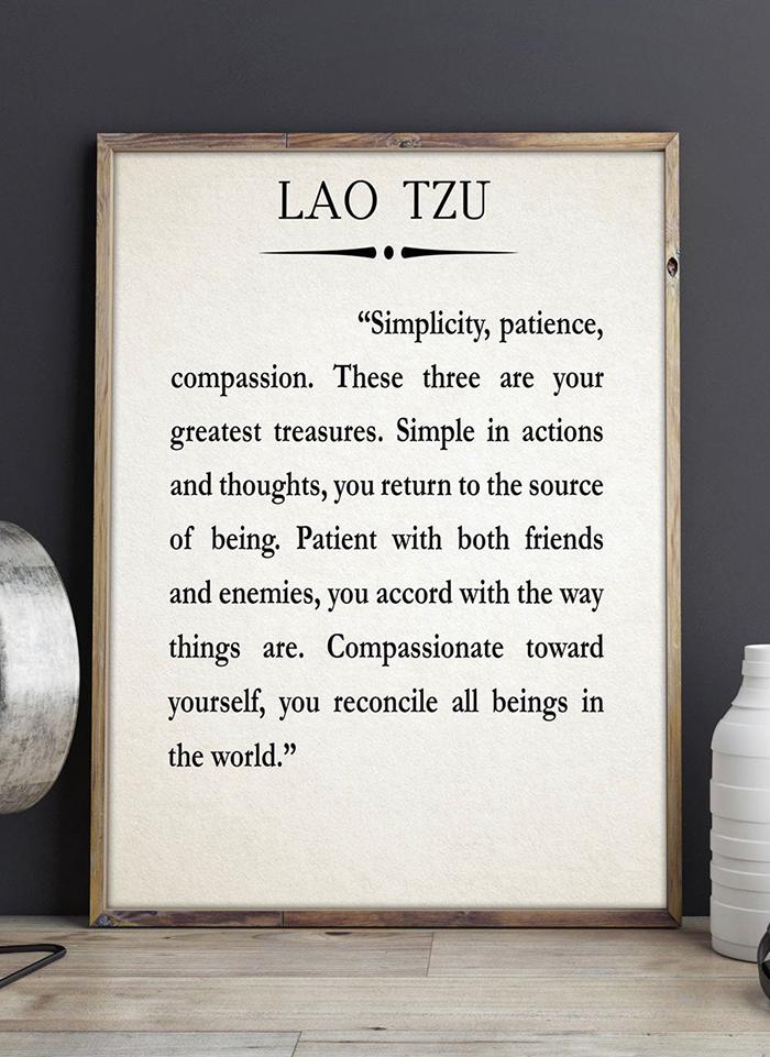 Lao Tzu Meditation Quote