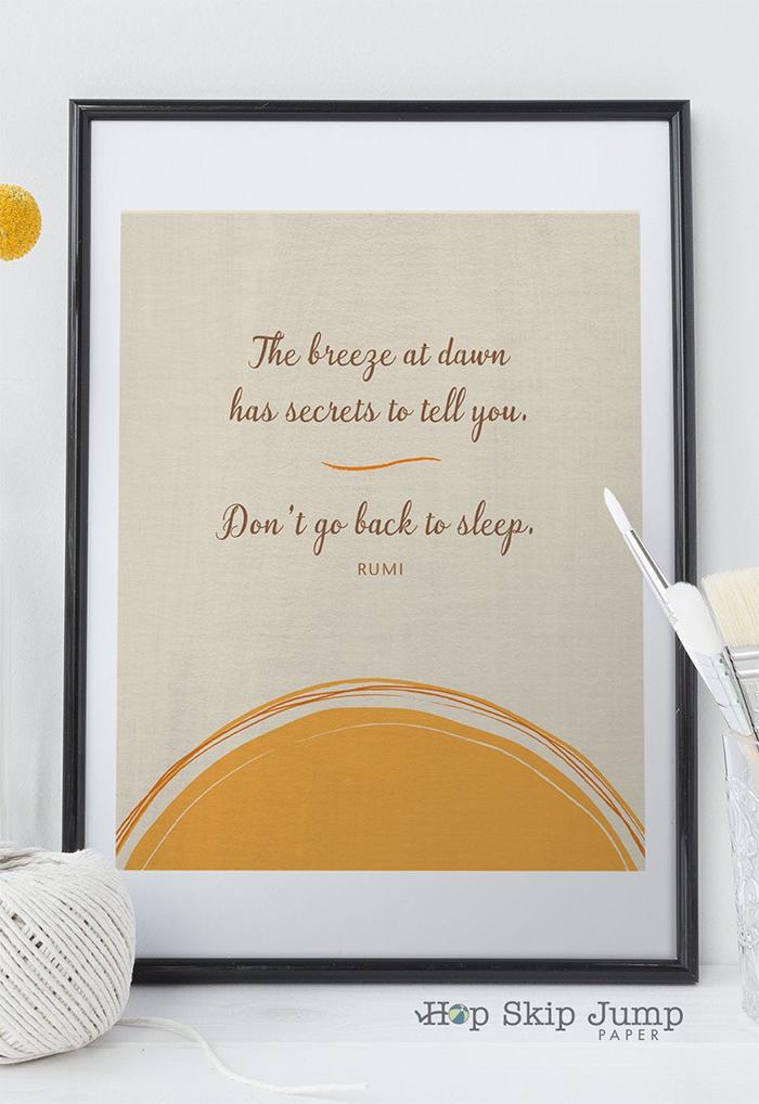 Rumi Inspirational Quote