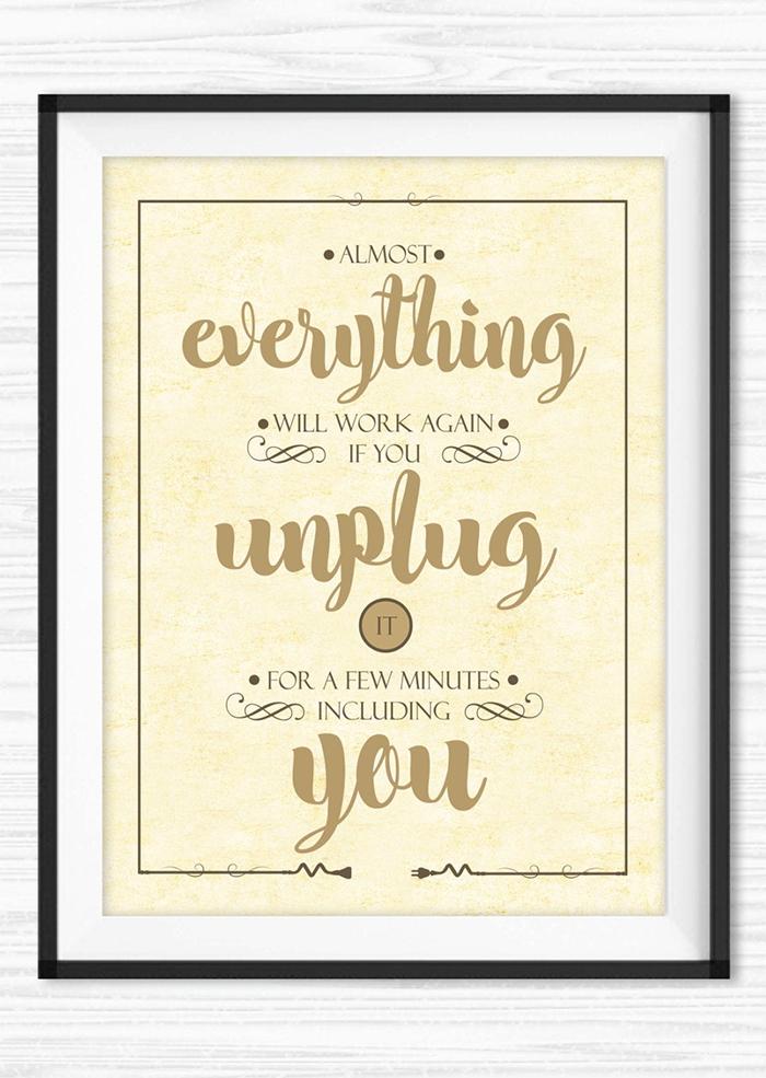Unplug Yourself Meditation Quote