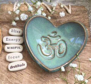 Inspirational Stones with Om Dish